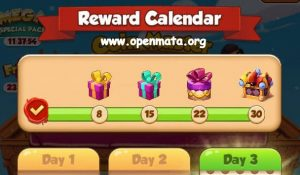 Rewards Calendar in Coin Master