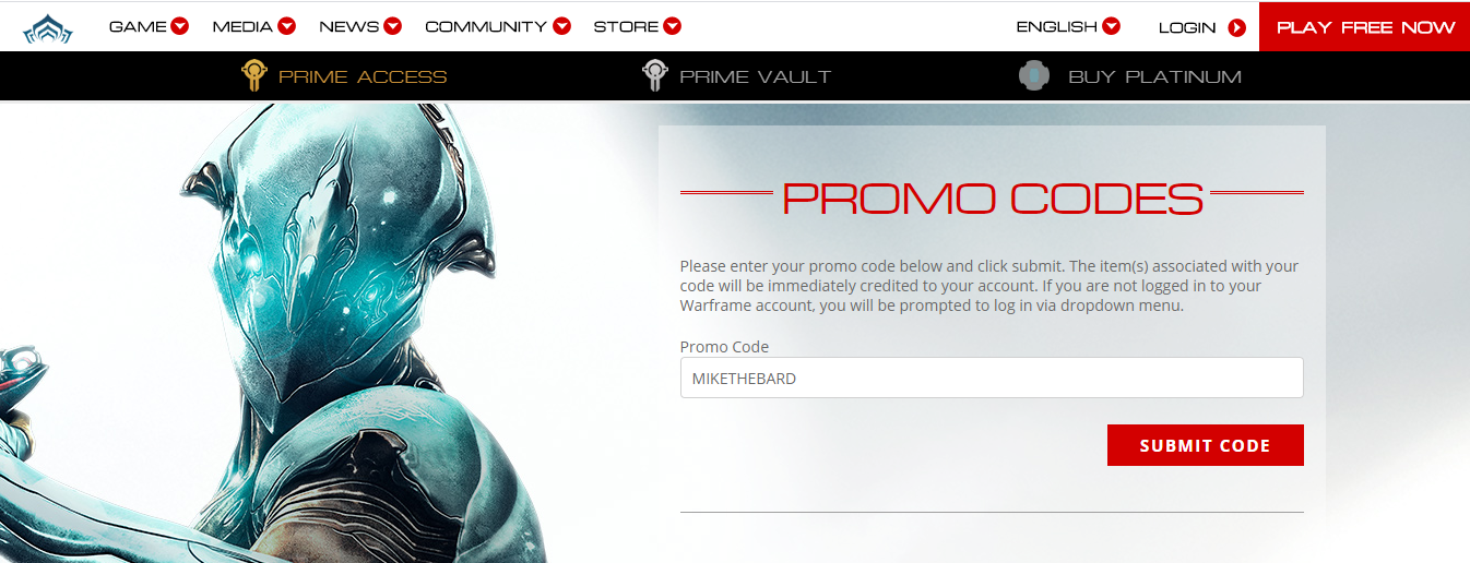 Image Showing How to Redeem Warframe Promo Codes
